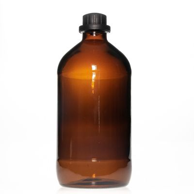 Pharmaceutical Grade 2.5l Large Capacity Round Amber Chemical Glass Bottle for Liquid Medicine