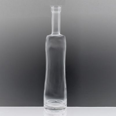 Liquor Vodka Gin Fancy Clear Cork Finish 700ml Glass Spirit Bottle