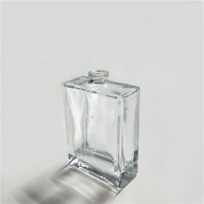 High Quality Transparent Clear Mini Square Perfume Bottle Empty Glass Bottle 50ml