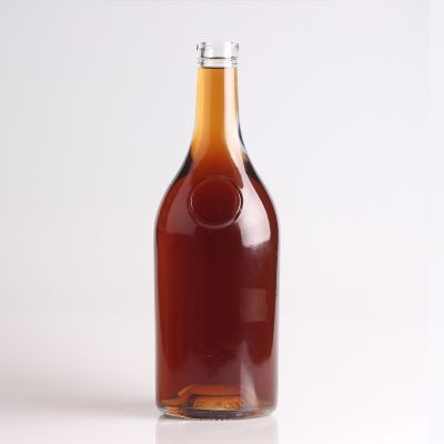 New fancy good quality brandy bottles wholesale for Transparent top