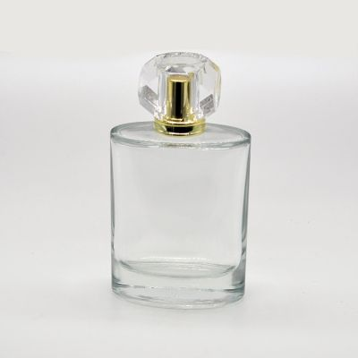 Chinese unique design 100ml glass Oval luxurious spray bottle for perfume
