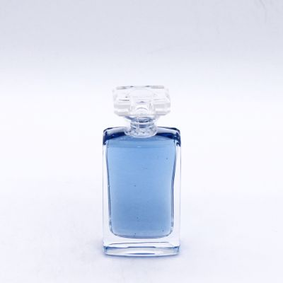 50ml rectangle transparent exquisite smooth perfume glass bottles wholesale
