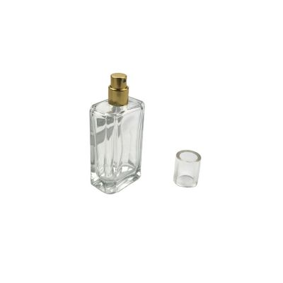 hot sale square shape clear empty 50ml perfume glass bottle