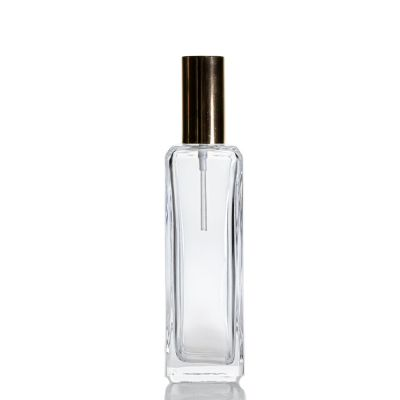 Luxury Empty Glass Empty Refillable Perfume Bottle Square 120ml Clear Spray Perfume Bottles