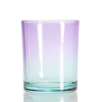 Cheap Christmas Gradient Candle Holder Round Glass Candle Cup For Candle Making