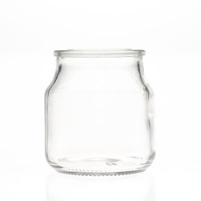 Wholesale 120ml 4oz Round Clear Empty Storage Container Glass Candle Jar with Glass lid