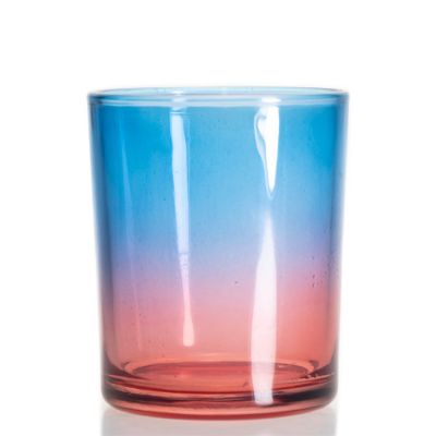 Wholesale Luxury Iridescent Candle Jar Cup Round Glass Candle Jar For Home Decor