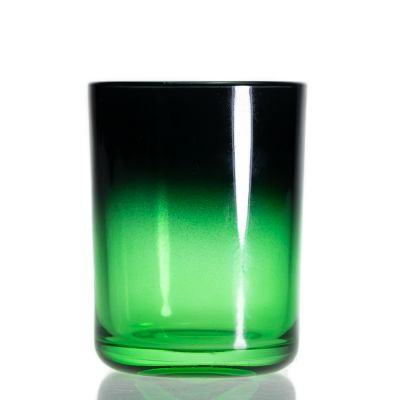 Wholeasle Empty 330ml Candle Holder Green Glass Candle Jar For Home Decor