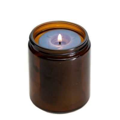 Wholesale 8OZ 240ml Round Glass Empty Amber Candle Glass Jar