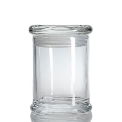 Custom Clear Cylinder Round Candle Holder 6 oz 200 ml Candle Glass Jar With Lid